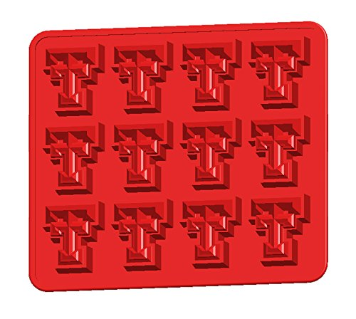 Fanpans NCAA Texas Tech Red Raiders Ice Trays & Candy Mold, One Size, Red ()