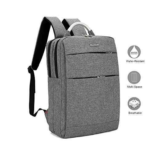 Laptop Backpack, Lightweight Slim Business Computer Backpacks, Water Resistant Laptops Knapsacks/Daypacks with Aluminum Handle for Student/Men/Women Fits 15.6 inch Laptops/Notebooks/Tablets Grey/Gray (Case Business Laptop Aluminum Computer)