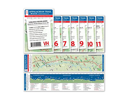 Appalachian Trail Pocket Profile Map Virginia Highlands - Damascus, VA - Harpers Ferry, (Highland Outfitters)