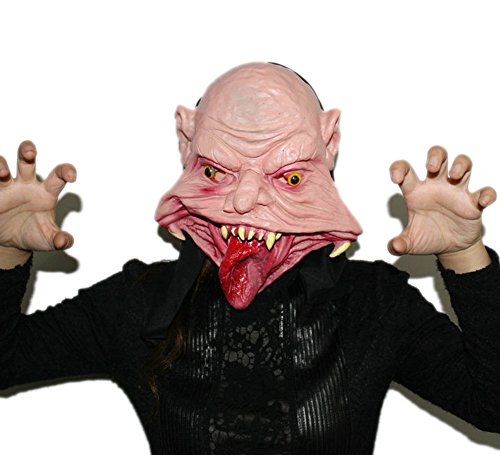 Toponechoice Scary Horror Monster Full Head Halloween Costume Party Mask (Big (Large Mouth Halloween)