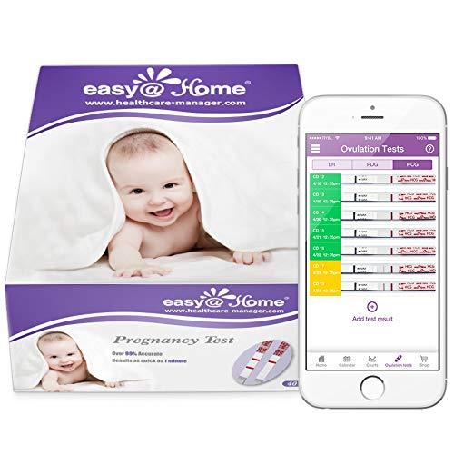 Easy@Home 40 Pregnancy  Urine Test Strips 40 HCG Tests