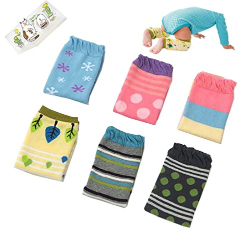 Lucky staryuan 6Pairs Baby Boy Girl Leg Warmers-Thicker (to baby gifts)]()