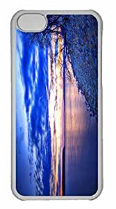 iPhone 5C Case, Personalized Custom Evening Shoreline for iPhone 5C PC Clear Case