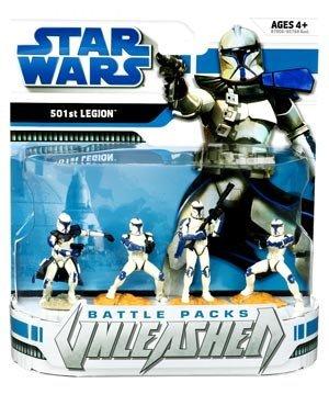 Star Wars: Clone Wars Unleashed Battle Packs - 501st Legion Action Figure Multi-Pack