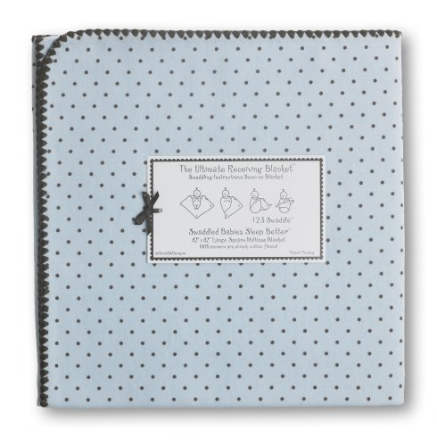 SwaddleDesigns Essentials, Set of 8 - Pastel Blue with Chocolate Brown by SwaddleDesigns (Image #2)