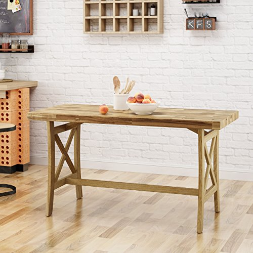 Great Deal Furniture 304858 Ford Traditional Acacia Wood Desk, Natural Stained,