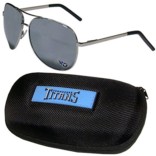 NFL Tennessee Titans Aviator Sunglasses & Zippered Carrying - Sunglasses Titan