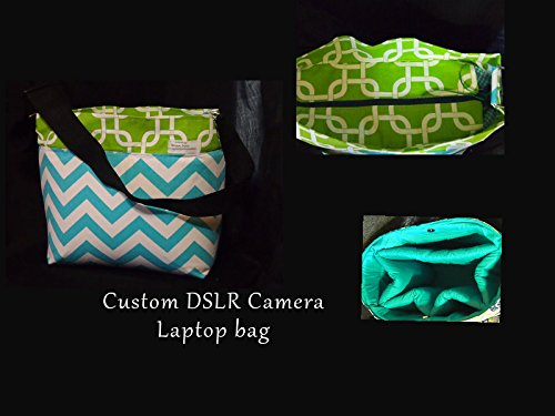 DSLR Camera Bag  SLR Camera Bag  Nikon  Canon  Sony  Zipper Top  Tablet Pocket  Camera Case  12x6x10 by StrappyStyles