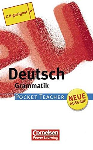 Pocket Teacher - Sekundarstufe I (mit Umschlagklappen): Deutsch: Grammatik