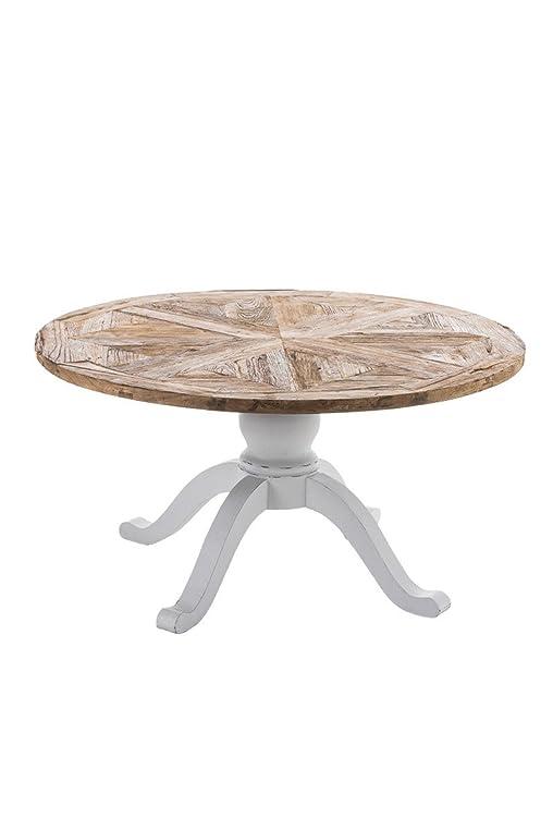 Esstisch rund ausziehbar shabby  CLP Holz Esszimmer-Tisch FABIA, rund, handgefertigt, Shabby chic ...