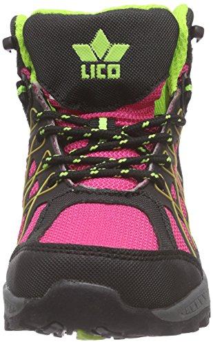 Lico Terrain - Zapatillas de senderismo Niñas Rosa - Pink (pink/schwarz/lemon)