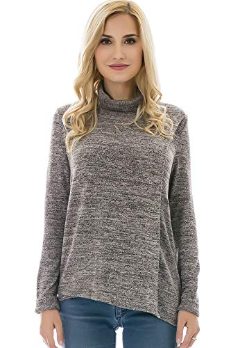 Bearsland Women's Maternity Clothes Comfy Long Sleeves Breas