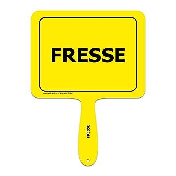 Gelbe Karte Lustig.Fresse Lustiges Gelbes Kunststoffschild Mit Griff Gelbe Schilder Das Original