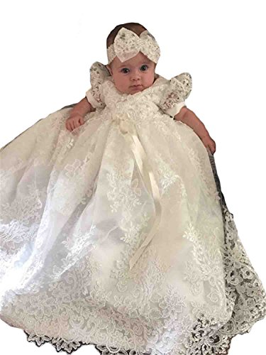 newdeve-baby-girls-lace-beads-infant-toddler-white-christening-gowns-long-9-12-months-white
