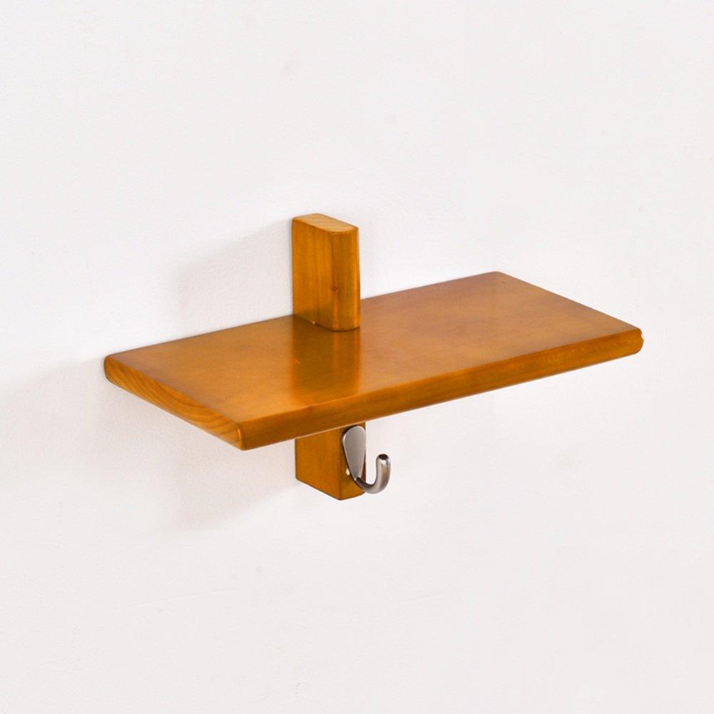 LIANGJUN スカーフ ウォールハンガー 棚付き フック 寝室 リビングルーム、 使用可能な3色、 3サイズ ( 色 : Yellow orange , サイズさいず : 17cm ) B07B3TB6GK 17cm Yellow orange Yellow orange 17cm