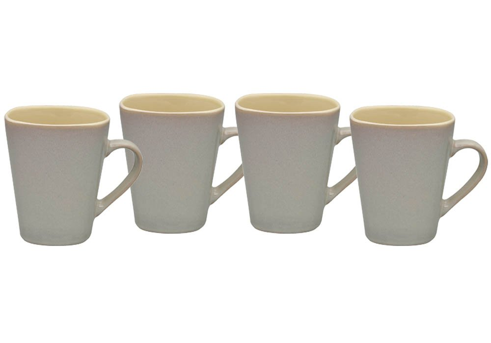 Culver 14-Ounce Sterling Ceramic Mug, Bisque, Set of 4 A04719