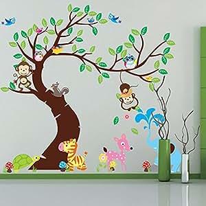 Didaa removable diy vinyl animals horse birds monkeys for Decoration list mhw
