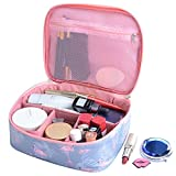 DWE Make up Bag, Travel Cosmetic Bags Brush Pouch Toiletry Wash Bag Portable Travel Makeup Case Pouch For Women Girls (Pink)