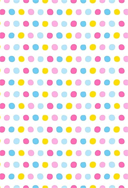 Geometric Polka Dots Composition with Halftone Pattern on Dark Toned Background Background for Child Baby Shower Photo Vinyl Studio Prop Photobooth Photoshoot Colorful 10x15 FT Photography Backdrop
