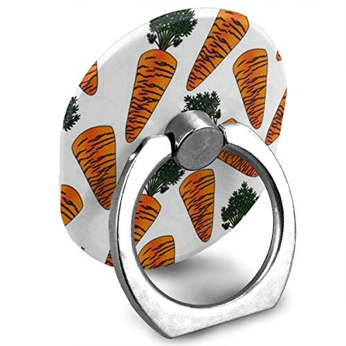 (Cell Phone Holder Pattern Carrot Cartoon Ring Phone Holder Adjustable 360° Rotation Finger Ring Stand for Ipad,Kindle,Phone X/6/6S/7/8/8 Plus/7,Galaxy S9/S9 Plus/S8/S7,Android Smartphone,Divi,Accesso)