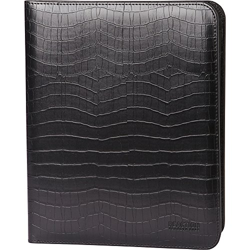 Kenneth Cole Reaction Classic Size Croco Embossed Pvc Writing Pad, Croco Embossed Black