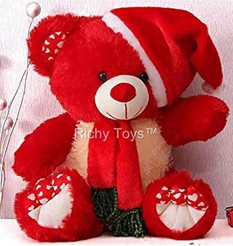 411e9e9762e Buy Babique Santa Teddy Bear Plush Stuffed Soft Toys Animals Birthday Gift  for Kids 38CM (Red) Online at Low Prices in India - Amazon.in