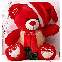 Babique Santa Teddy Bear Plush Stuffed Soft Toys Animals Birthday Gift for Kids 38CM (Red)