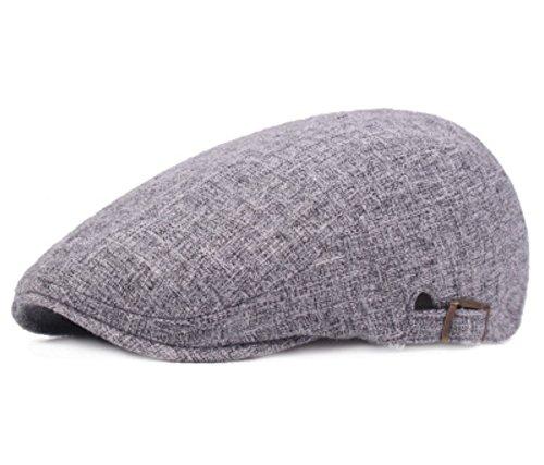 Westeng Sombreros de Boina Aire Libre Ajustable del Sombrero para Primavera, Verano, Otoño para Hombre Mujer (Beige)