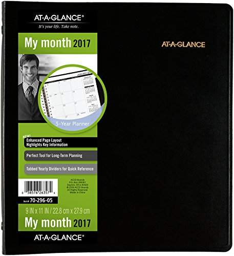 Amazon.com : AT-A-GLANCE 5 Year Monthly Planner 2019, 60 ...