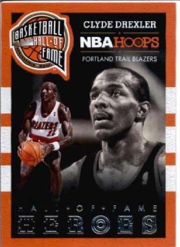 2014 Hoops Hall of Fame Heroes Basketball Card (2013-14) #4 Clyde Drexler (Clyde Drexler Hall Of Fame)