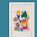 Cheap AUSWIND DRG235 Japanese Style Doorway Curtain (33.4″ W 47″ H) (white)