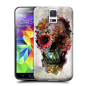 Unique Phone Case Skeleton skull head arts map Such a beautiful skull Hard Cover for samsung galaxy s5 cases-buythecase