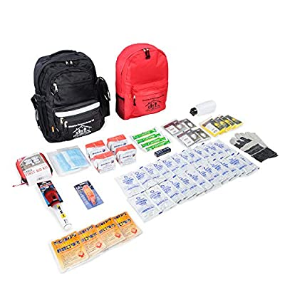 First My Family 4FKIT All-in-One 4-Person Premium Disaster Preparedness Survival Kit/Earthquake Kit with 72 Hours of Survival and First-Aid Supplies 4PKIT by First My Family, LLC