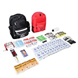 First My Family 4FKIT All-in-One 4-Person Premium Disaster Preparedness Survival Kit/Earthquake Kit with 72 Hours of Survival and First-Aid Supplies 4PKIT