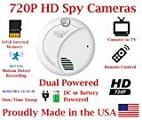 SecureGuard HD 720p Home & Office Smoke Detector Sensor Residential Spy Camera Covert Hidden Nanny Camera Spy Gadget (New Cost Efficient Line)