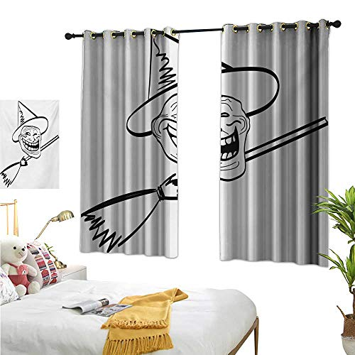 S Brave Sky Drapes for Living Room,Humor,72