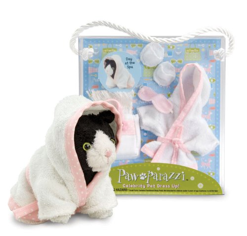 Pawparazzi Pets Day At the Spa Dress up Set By Noodle Head (Pawparazzi Purse)