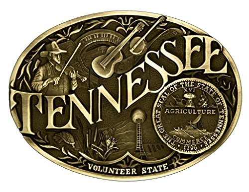(Montana Silversmiths Men's Tennessee State Heritage Attitude Belt Buckle Gold One Size)
