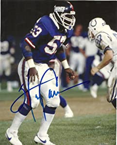 Harry Carson, New York Giants, Hall of Fame, Hof, Signed, Autographed, 8x10 Photo, Coa with Proof