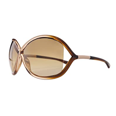 e1b0e3e951 Image Unavailable. Image not available for. Color  Tom Ford Designer FT0009  74F Whitney Auburn Women Sunglasses