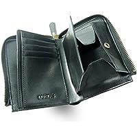 [LUCIAS] 二つ折り財布 本革 ファスナー BOX型小銭入れ 大容量 コンパクト メンズ レディース