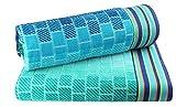 Cotton Craft - XL Jacquard Woven Velour Beach Towel - 39x68 inches - 100% Cotton - Blue Tile