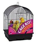 Prevue Hendryx 91101 Round Roof Bird Cage Kit, Black