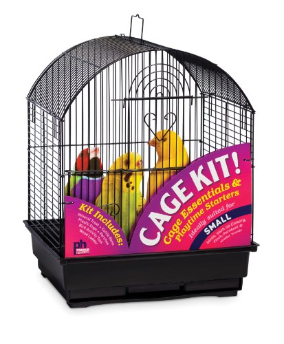 Prevue Hendryx 91101 Round Roof Bird Cage Kit, Black