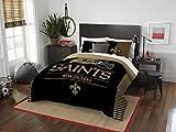Northwest NFL New Orleans Saints Draft Full/Queen Comforter and 2 Sham Set