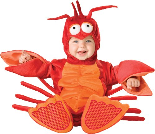 Halloween Costumes For Groups Of 6 (InCharacter Costumes Baby's Lil' Lobster Costume, Red/Orange, Small (6-12 Months))