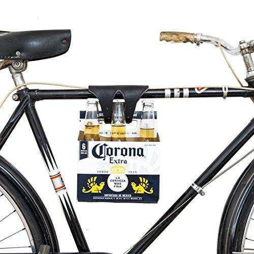 - Hide & Drink Six-Pack Bike Cinch (Bicycle Beer Carrier) Handmade Black