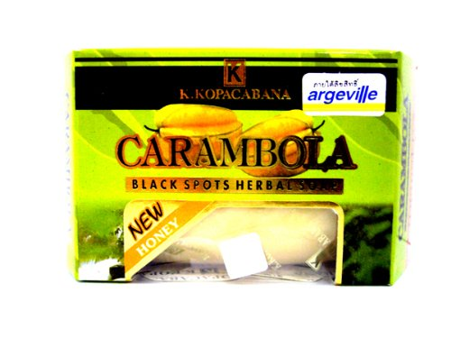 Argeville-Carambola-Plus-Honey-Anti-acne-Wrinkles-Black-Spots-Herbal-Soap-Bar-Made-in-Thailand