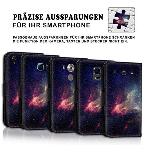 Wallet Book Style Flip Handy Tasche Case Schutz Hülle Schale Motiv Etui für Apple iPhone 6 Plus / 6S Plus - Design Flip MV116