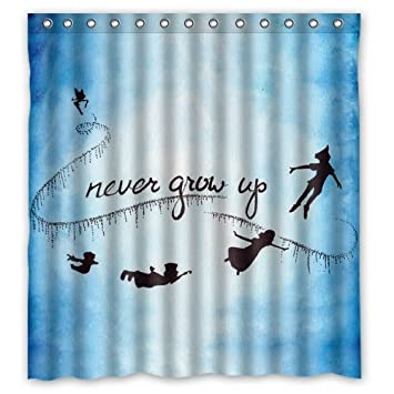 Peter Pan Duschvorhang Custom Shower Curtain 66x72 Inch